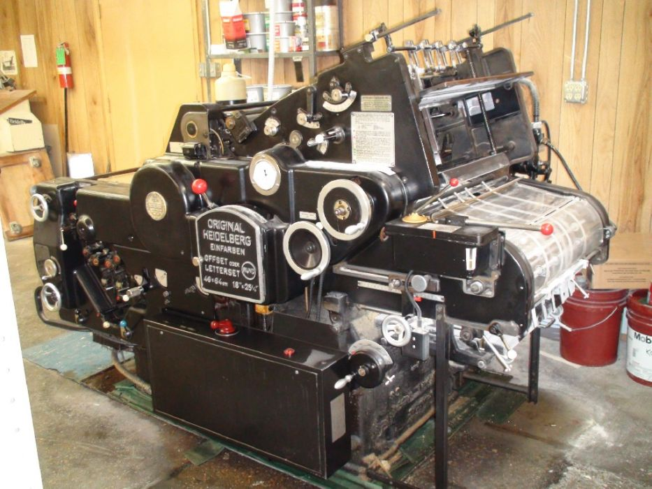 HEIDELBERG KORD 64 sheetfed offset 1 color