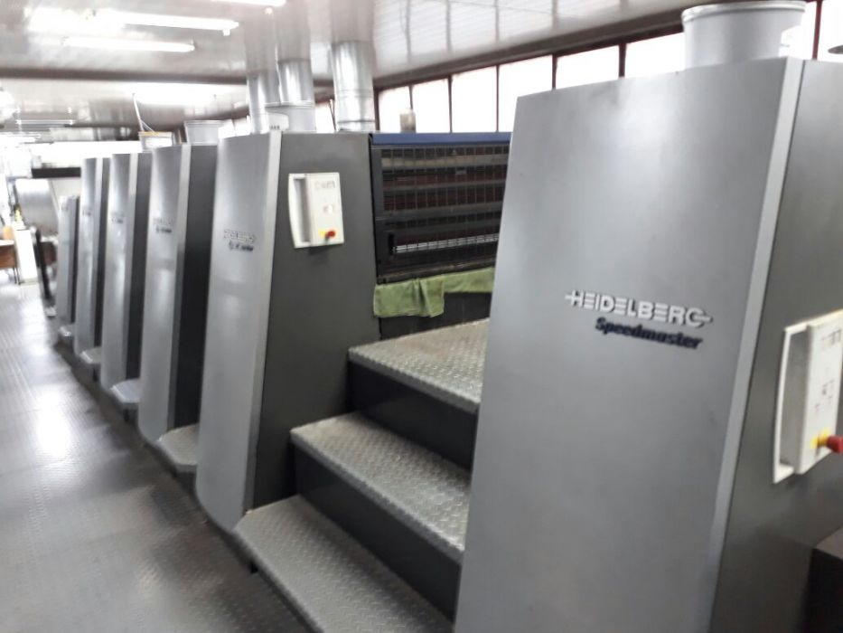 HEIDELBERG  CD 74-5P+L +F  sheetfed offset 5 colors and +