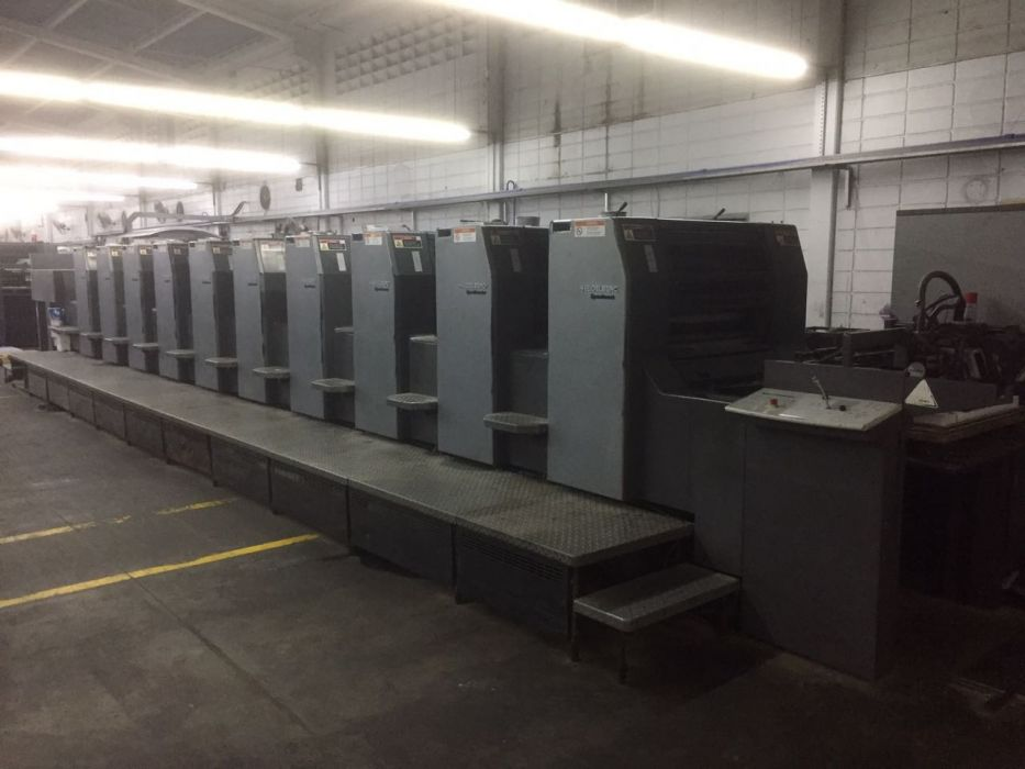 HEIDELBERG SM 74-10 sheetfed offset 5 colors and +