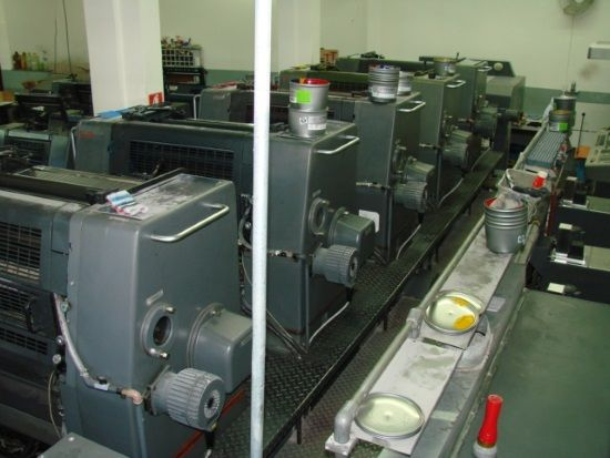 HEIDELBERG  SM 72-5 sheetfed offset 5 colors and +