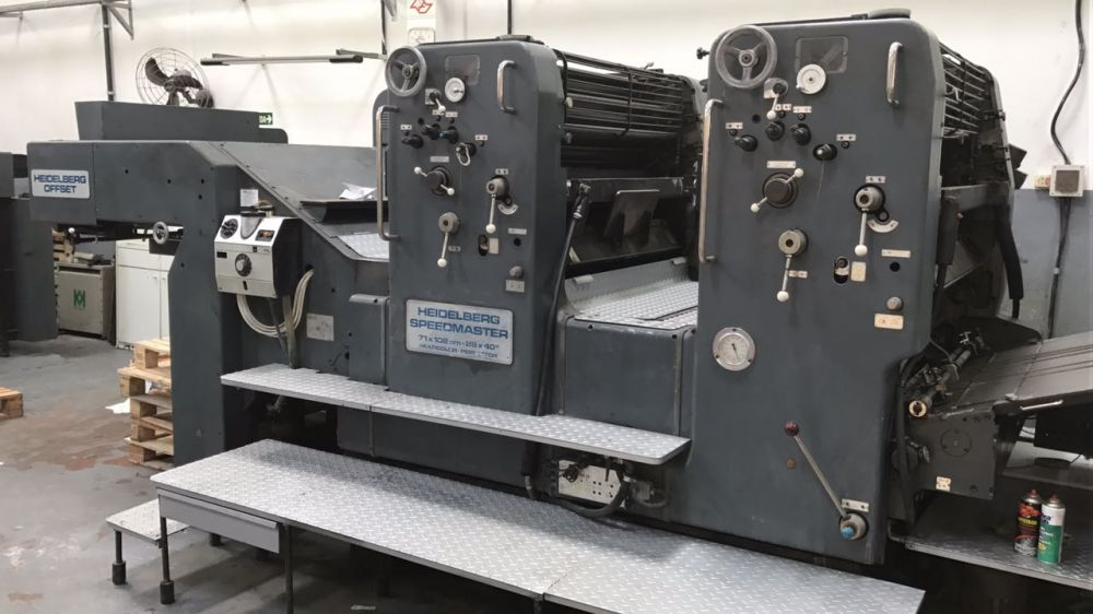 HEIDELBERG  SM 102ZP sheetfed offset 2 colors