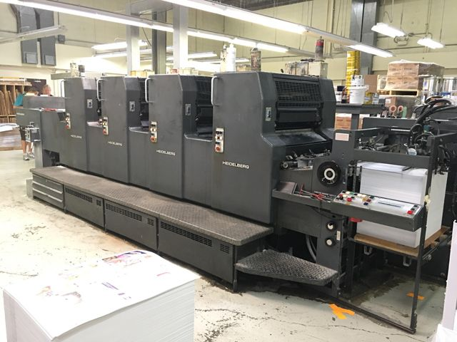 HEIDELBERG  MOVP-H sheetfed offset 4 colors