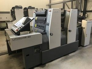 KOMORI L220 sheetfed offset 2 colors