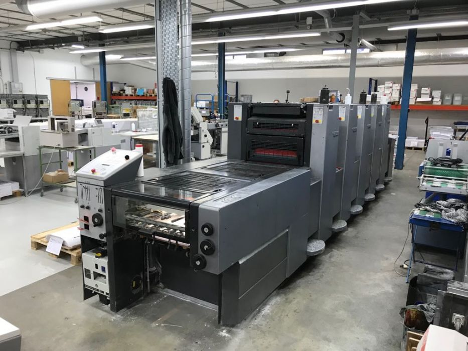 HEIDELBERG SM 102 - 5 P + L sheetfed offset 5 colors and +