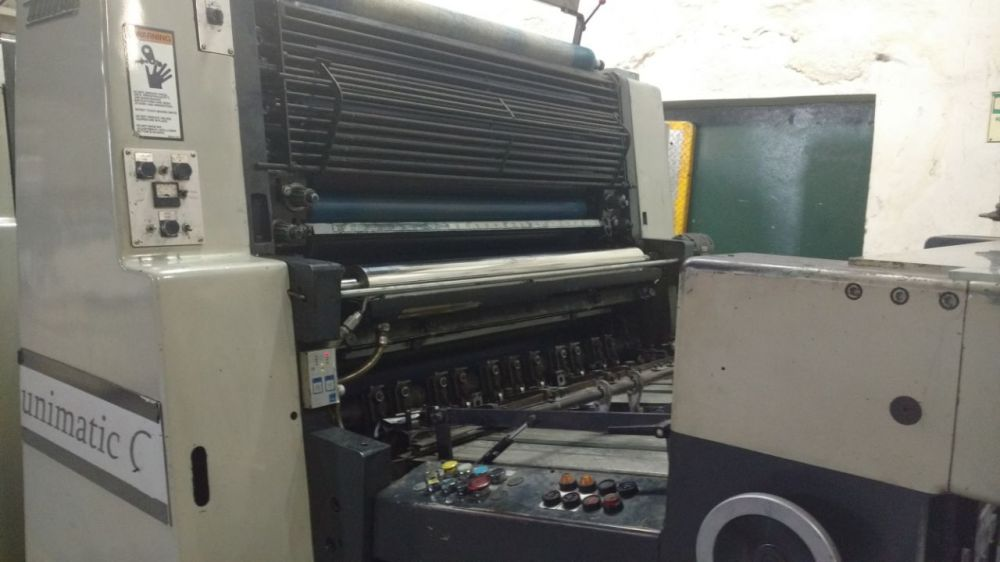ROLAND MILLER  TP104 sheetfed offset 5 colors and +