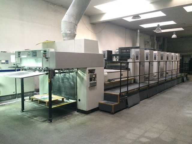 ROLAND R 706 3B sheetfed offset 5 colors and +