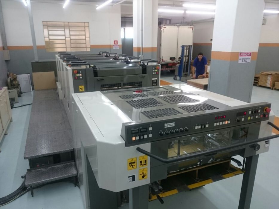 KOMORI  LS529 sheetfed offset 5 colors and +