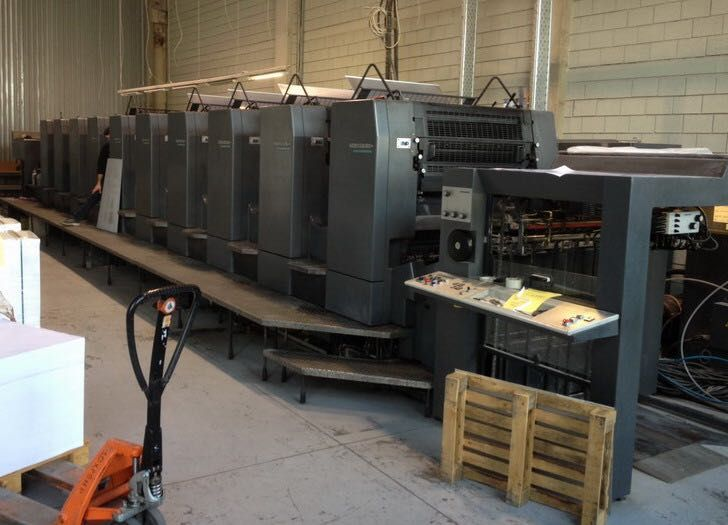 HEIDELBERG SM 102 sheetfed offset 5 colors and +