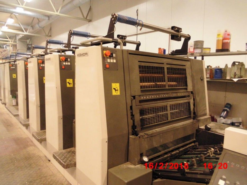 KOMORI  829 P sheetfed offset 5 colors and +