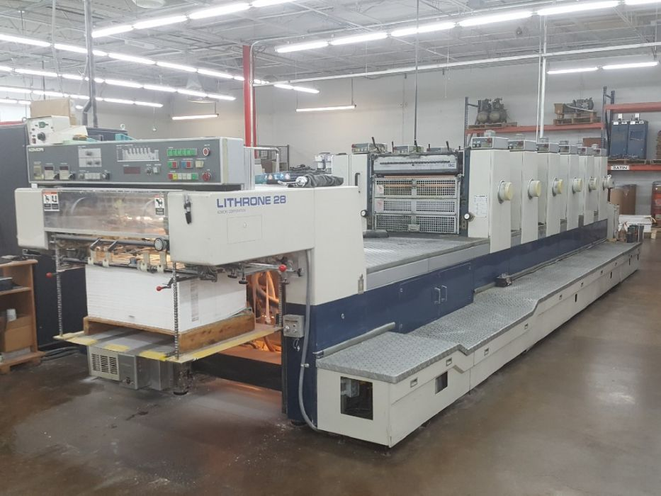 KOMORI LITHRONE 628 sheetfed offset 5 colors and +