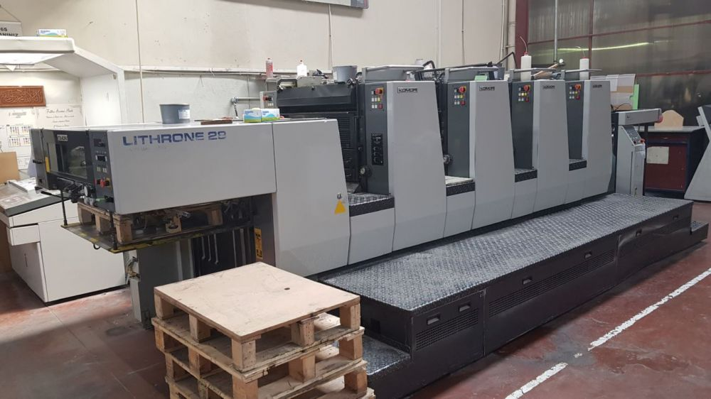 KOMORI L 428 sheetfed offset 4 colors