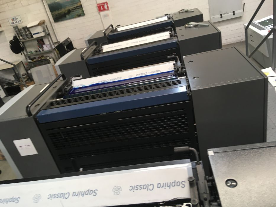 HEIDELBERG SM 74-4 2011 sheetfed offset 4 colors
