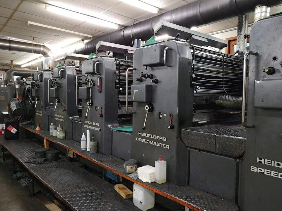Heidelberg SM 72 FP+UV sheetfed offset 5 colors and +