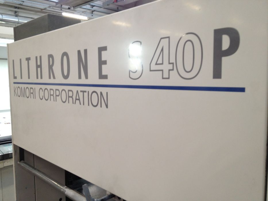 KOMORI  L 840  sheetfed offset 5 colors and +