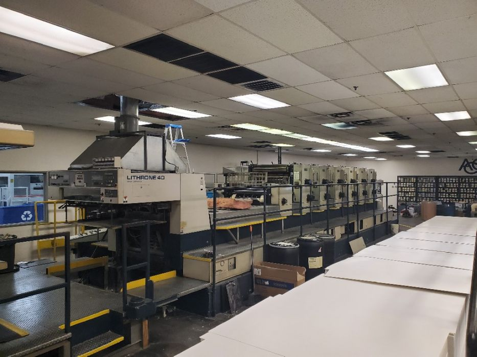 KOMORI L-640 sheetfed offset 5 colors and +