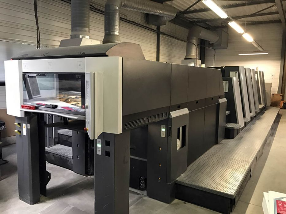 HEIDELBERG  XL 75 - 5 P + L X  sheetfed offset 5 colors and +