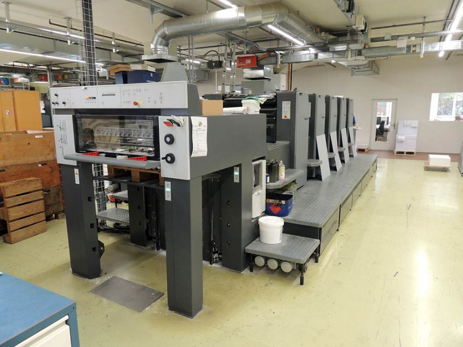 HEIDELBERG SM 74 5 P H sheetfed offset 5 colors and +