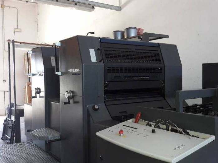HEIDELBERG PRINTMASTER sheetfed offset 2 colors