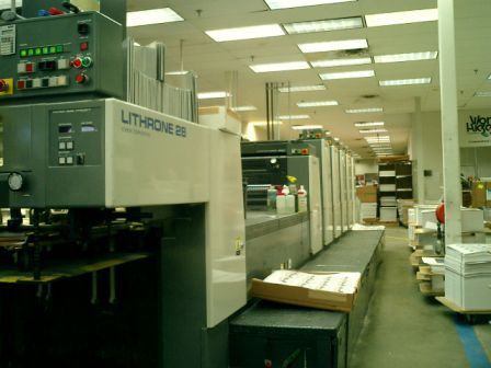 KOMORI LITHRONE 528 + C sheetfed offset 5 colors and +