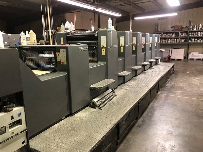 HEIDELBERG SM 102-6+L sheetfed offset 5 colors and +