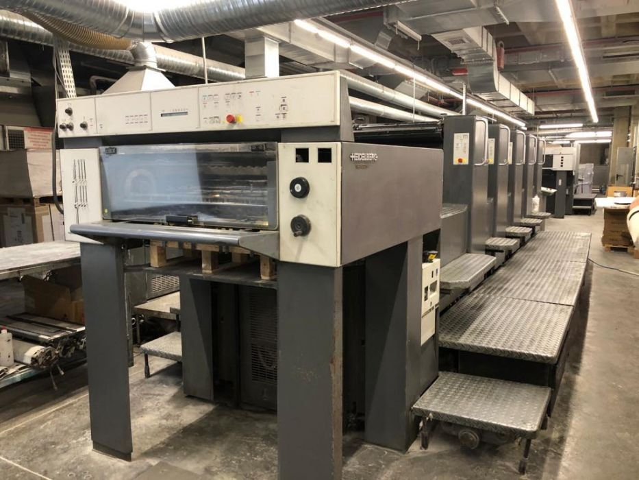 HEIDELBERG  SM 74-5 sheetfed offset 5 colors and +